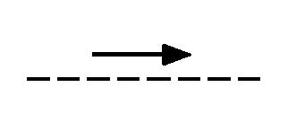 Mechanische, pneumatische oder hydaulische Verbindung mit Angabe der Bewegungsrichtung