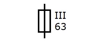 Symbol Diazed Schmelzsicherung grösse 3