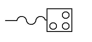 Symbol Elektroherd, Kochherd, Rechaud