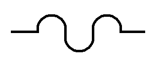 Symbol Flexibler Leiter