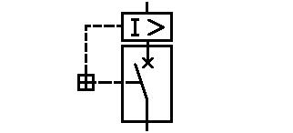 Symbol Leistungsschalter mit Primär-Überstromrelais