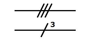 Symbol Leitung mit drei Leiter