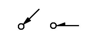 Symbol Leitung von oder nach unten