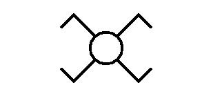 Symbol Lichtschalter Kreuzschaltung