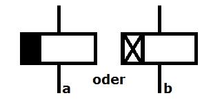 Symbol Relais Rückfall oder Anzugsverzögert