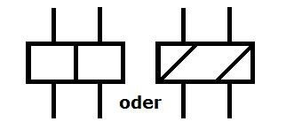 Symbol Relais mit zwei getrennten Wicklungen