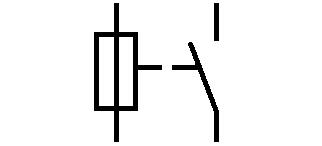 Symbol Schmelzsicherung mit Meldekontakt