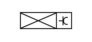 Symbol Spiegelkasten mit Steckdose