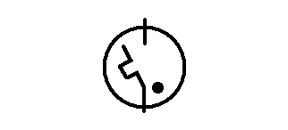 Symbol Starter für Leuchtstofflampe