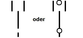 Symbol Wechsler, Umschaltung mit Nullstellung