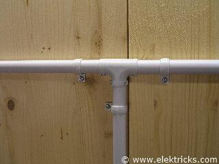 PVC Elektrorohr T-Stück