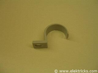 PVC Rohrschelle einlappig