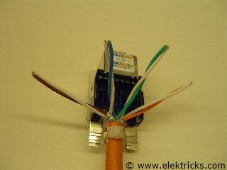 Netzwerk Steckdose anschliessen 0020