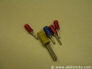 Stiftförmige Kabelschuhe