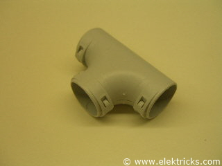 T-Stück PVC Elektrorohr 2