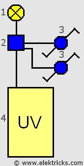 wechselschaltung Installationsplan 1