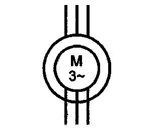 Symbol Drehstrom-Schleifringankermotor