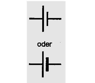 Symbol Galvanisches Element, Akkumulator