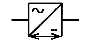 Symbol Gleich und Wechselrichter