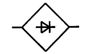 Symbol Gleichrichter in Brückenschaltung