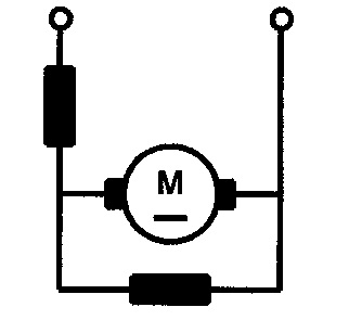 Symbol Gleichstrommotor mit Doppelschlusserregung