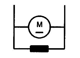 Symbol Gleichstrommotor mit Nebenschlusserregung