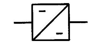 Symbol Gleichstromumrichter