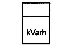 Symbol Kilovarstundenzähler