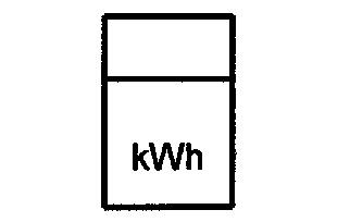 Symbol Kilowattstundenzähler