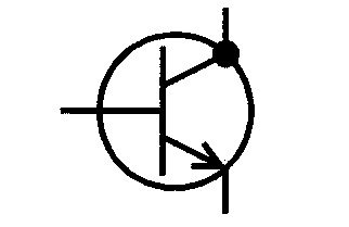Symbol NPN-Transistor Kollektor am Gehäuse