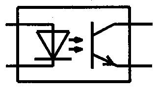 Symbol Optokoppler