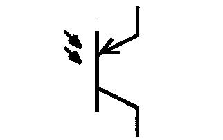 Symbol PNP-Fototransistor