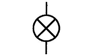 Symbol Signallampe, allgemein Glühlampe
