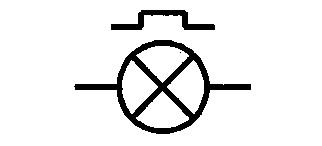 Symbol Signallampe, blinkend