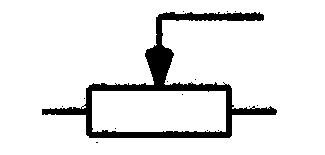 Symbol Spannungsteiler, Potentiometer mit beweglichem Abgriff