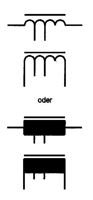 Symbol Spule mit Anzapfung