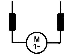Symbol Universalmotor (Einphasen-Serie-Kollektormotor)