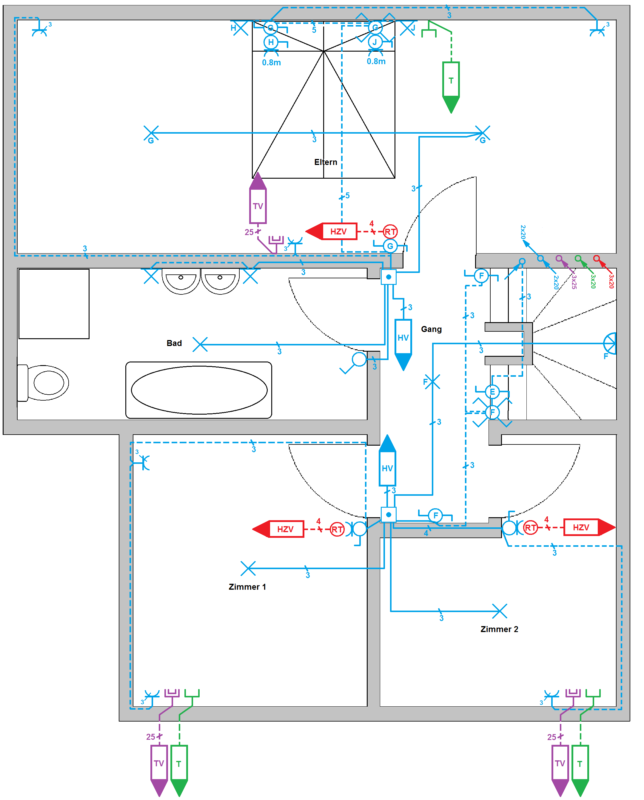Kurs Elektroplanung Teil 20: Installationsplan zeichnen